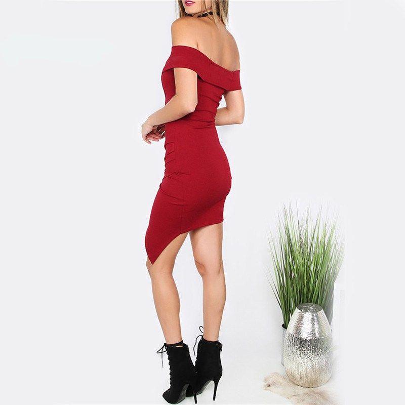 337cbd201ffc1 Vestido De Fiesta Bodycon Rojo Vestido De Mujer Elegante Abrigo Sexy