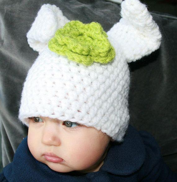 Crochet hat pattern crochet baby bunny rabbit hat pattern, bunny ...