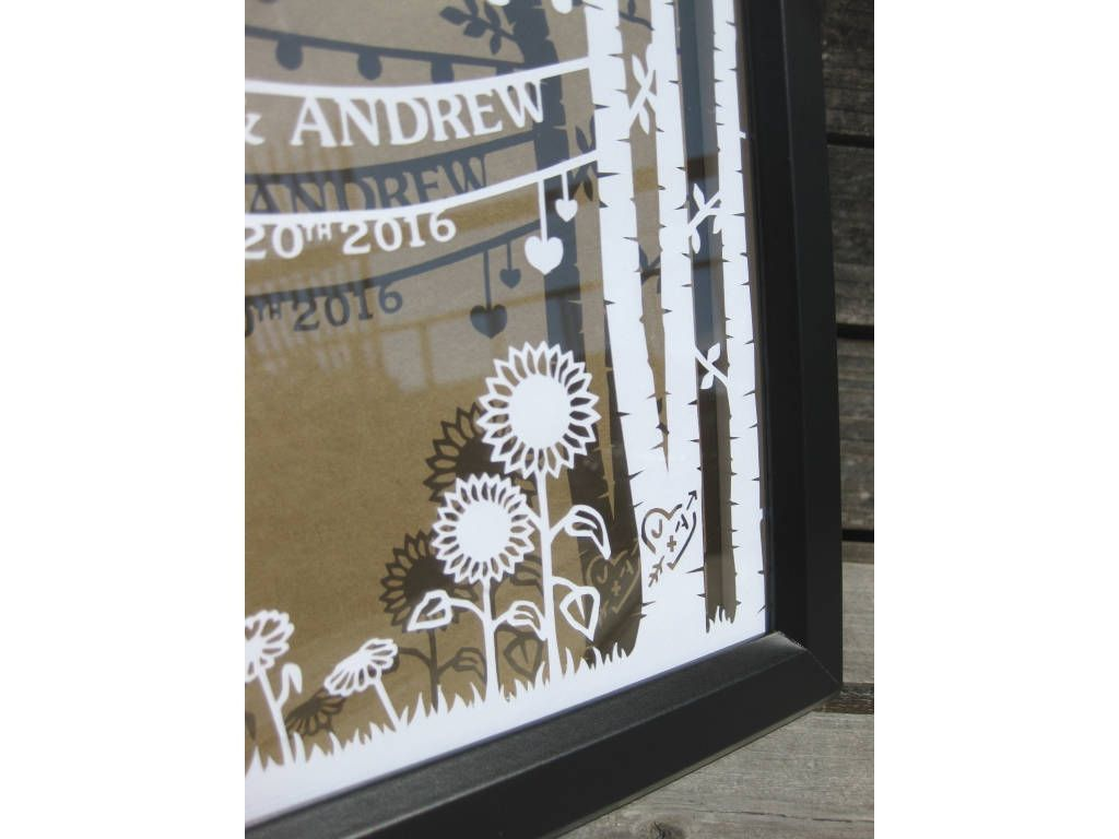 Anniversary Paper Cut Personalized Wedding Gift For Couple Wife