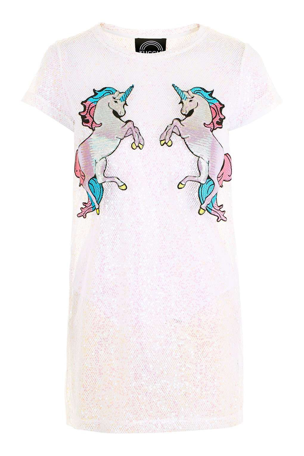 6c581087a07   Iridescent Mesh Unicorn Dress by Kuccia - Tops - Clothing - Topshop