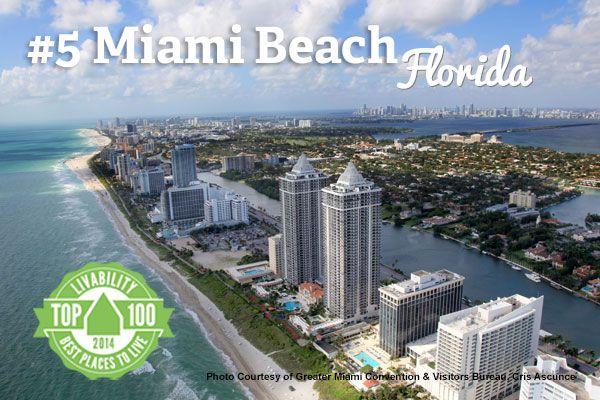 Hello Miami Beach Florida Ranked 5 On Livability Com S Top 100 Best Places To Live Beach Honeymoon Destinations Beach Vacation Deals Beach Honeymoon
