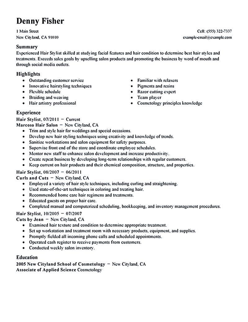 pin di resume samples