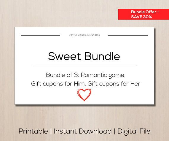 Bundle printable romantic games sweet couples game gift for sweet bundle special offer romantic game gift cupons gift negle Choice Image