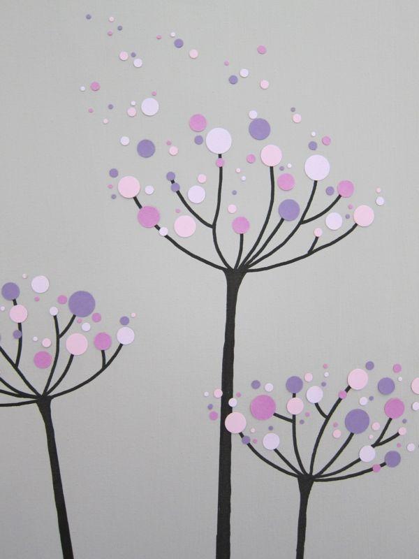 111 moderne Leinwandbilder selber gestalten Baby Pinterest - moderne wandgestaltung wohnzimmer lila