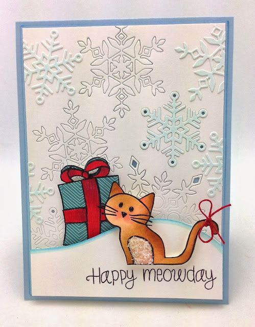simon says clear stamps happy meowday sss101357 christmas cards