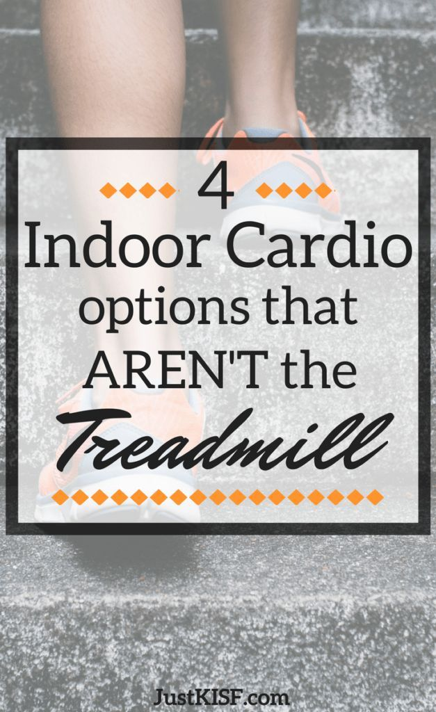 It can be hard to find any indoor cardio that isn't the treadmill, but these 4 options are perfect substitutes! Don't waste your time running nowhere, instead try out one of these cardio exercises! #indoorcardio #cardioworkout