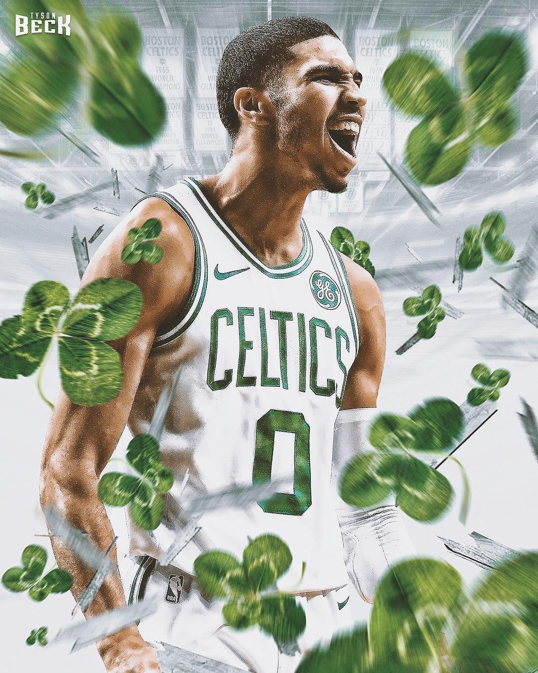 The Rookie Jayson Tatum Leads The Celtics To A Game 5 Win 1 Win Away From A Trip To The Nba Fin Jayson Tatum Boston Celtics Wallpaper Nba Basketball Art