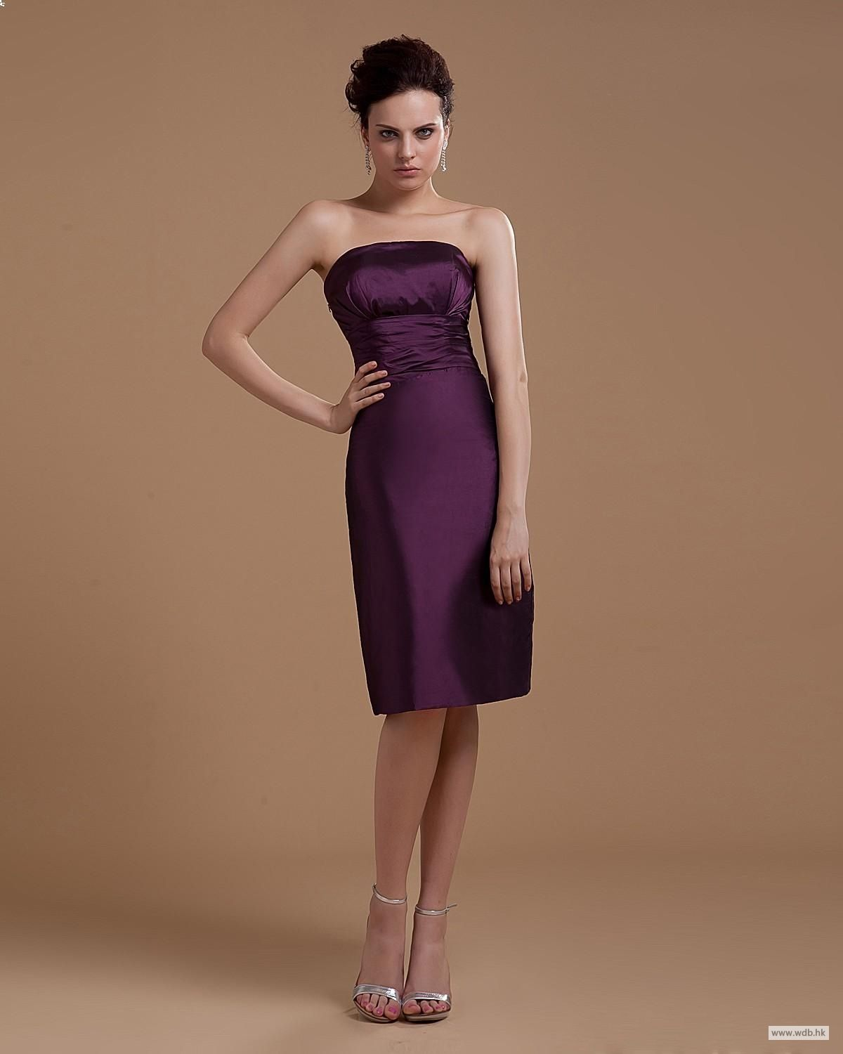 Wedding planning strapless short mini taffeta party dress
