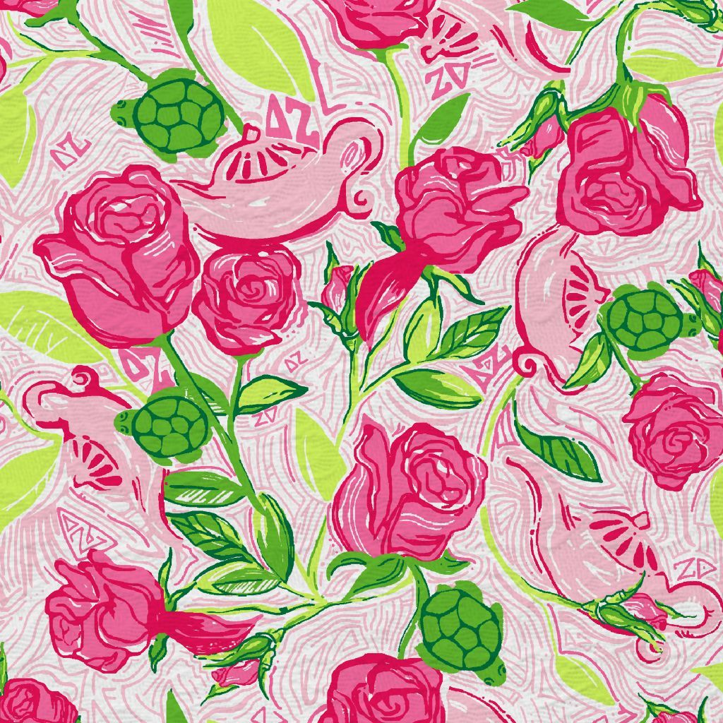 Lilly Pulitzer wallpaper Lillys Pink Delta Zeta | Patterns ...