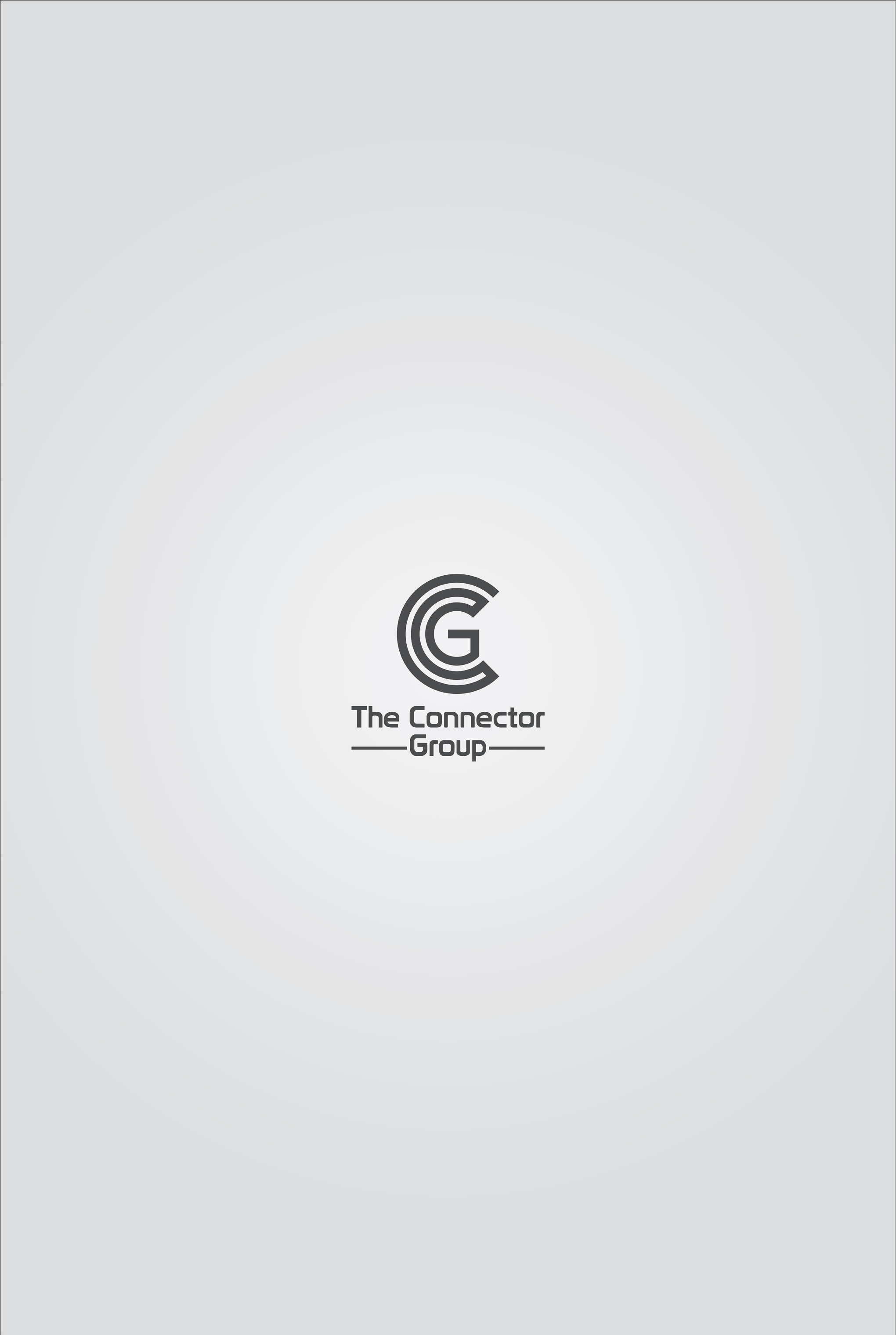 The Connector Group logo. Simple, modern logo, combination