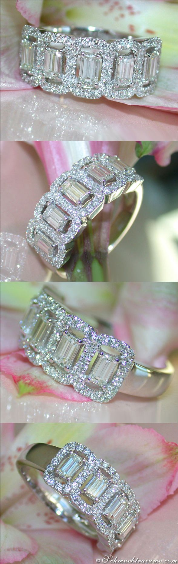 Picture Perfect Diamond Band   1.40 ct. G VS/VVS   Whitegold 18k - schmucktraeume.com Like: https://www.facebook.com/Noble-Juwelen-150871984924926/