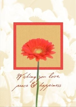 A Beautiful Birthday Card With Matching Flower Imprint On The Inside As Well This Is Real Not An E Shared From Sendcere