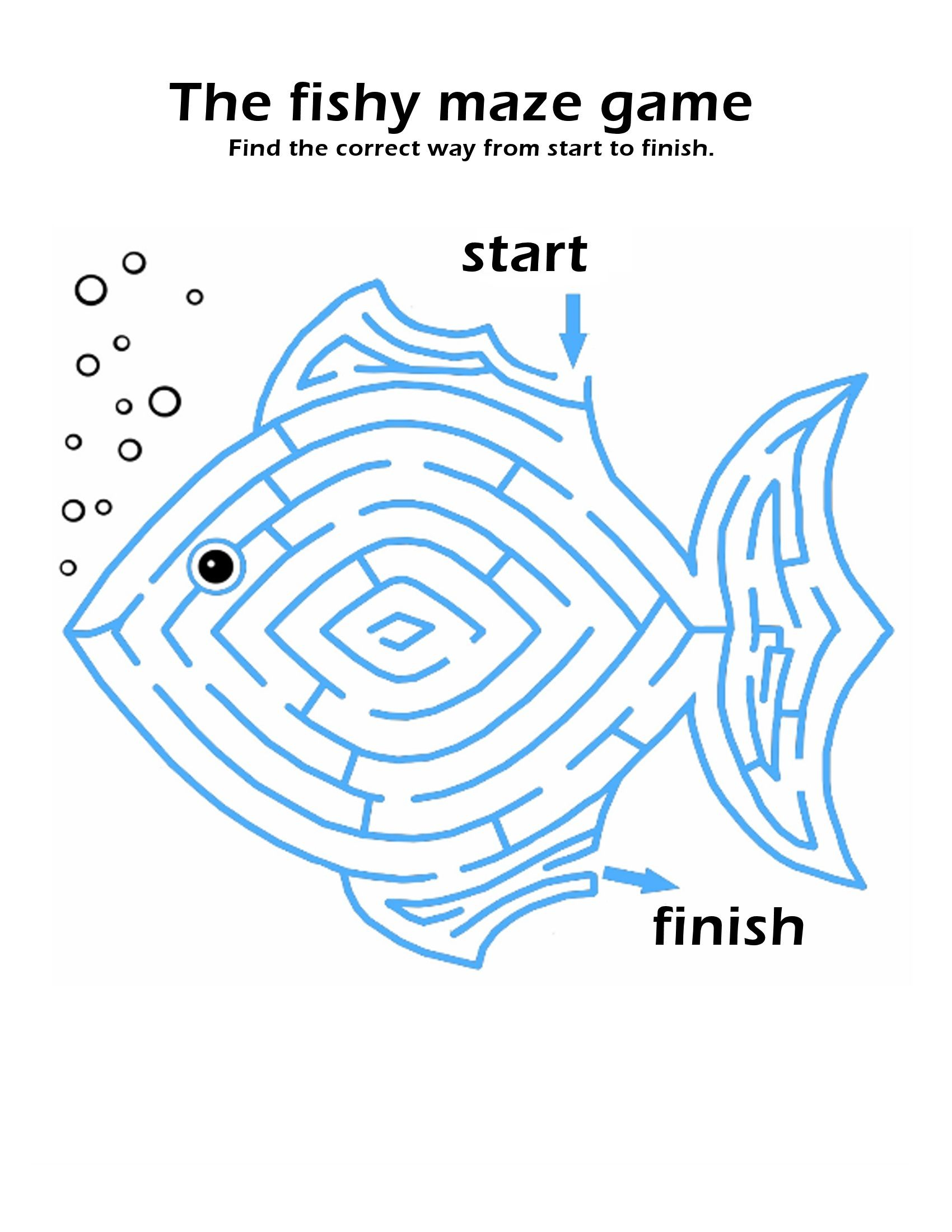 Maze Puzzle For Kids To Print In