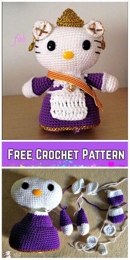 Crochet Hello Kitty Amigurumi Free Patterns Toy Plush For Kids