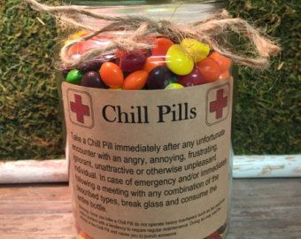Chill Pill PROFESSIONAL Self Adhesive Labels-Funniest #employeeappreciationideas