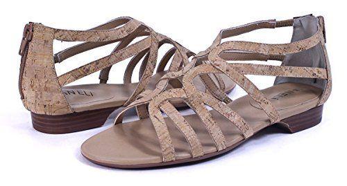 Vaneli Womens Baxie Natural Cork Sandal 85 M B >>> Visit the image link more