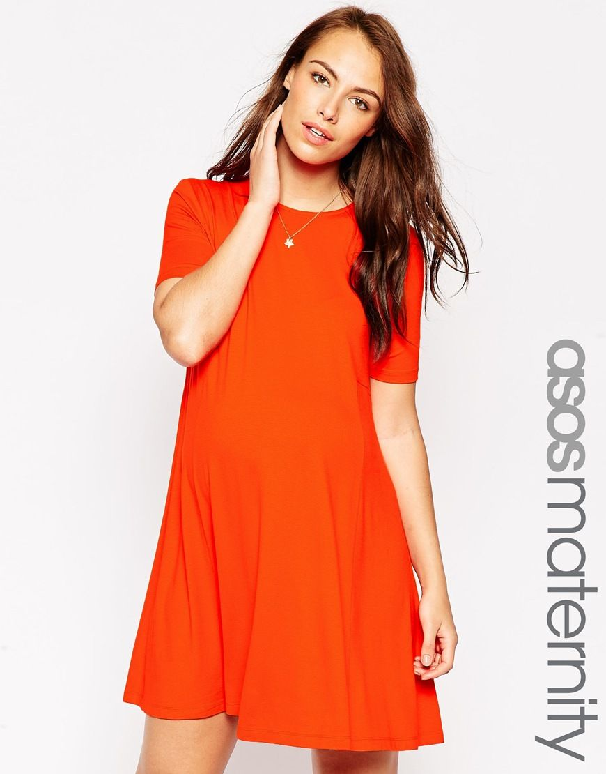 Maternity swing dress with seam detail and short sleeves shorts discover the womens outlet with asos and shop your maternity clothes from french connection to isabella oliver find the perfect maternity outfits ombrellifo Choice Image
