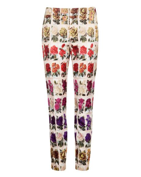 0262e635b945 KEELIE - Roses in a row print trousers - Light Pink