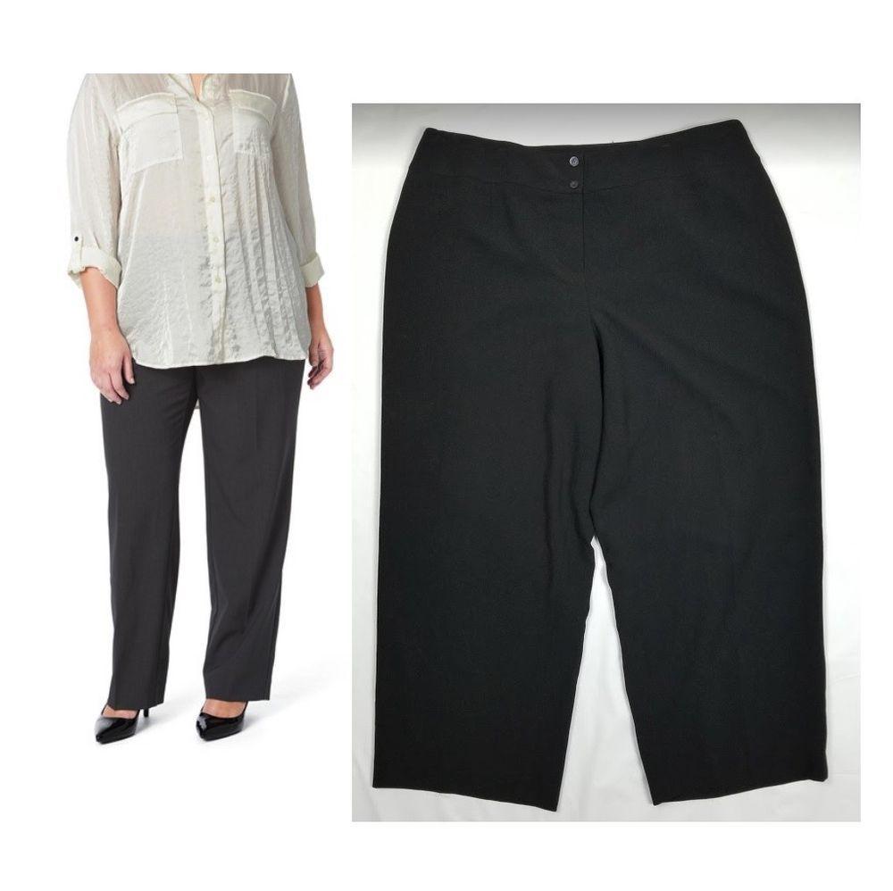 830e4f66bd688 Jones New York Pants Black Ponte Trouser Career Lined Plus Size 24W Mint   JonesNewYork  DressPants  Career