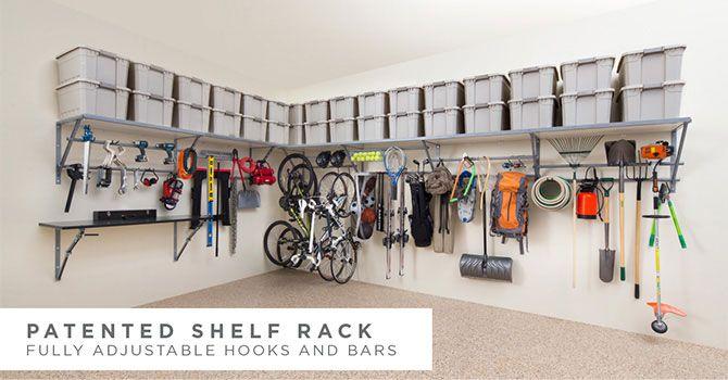 Garage Shelving Monkey Bar Storage Garage Storage Solutions Garage Solutions Garage Shelving