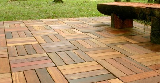 Teak Patio Tiles For Outside The Atrium