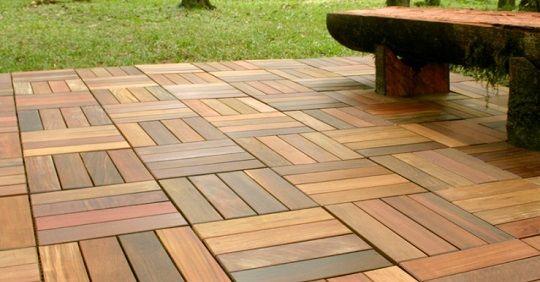 teak patio tiles for outside the atrium