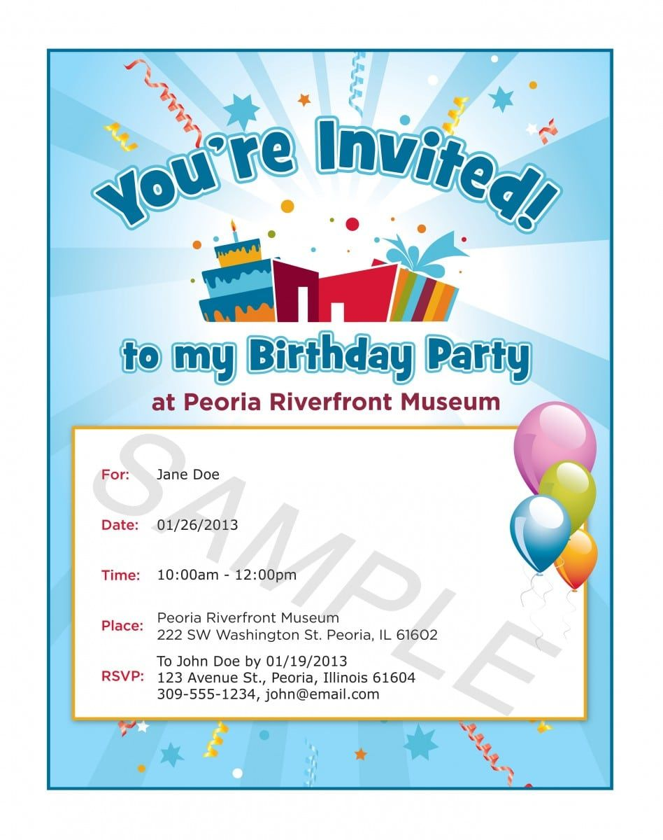 Invitation Format For Party
