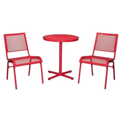 Red Patio Chair room essentials™ lasalle 3-piece mesh patio bistro furniture set