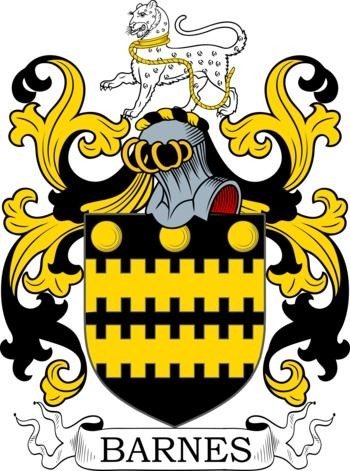 Barnes Coat of Arms Meanings and Family Crest Artwork ...