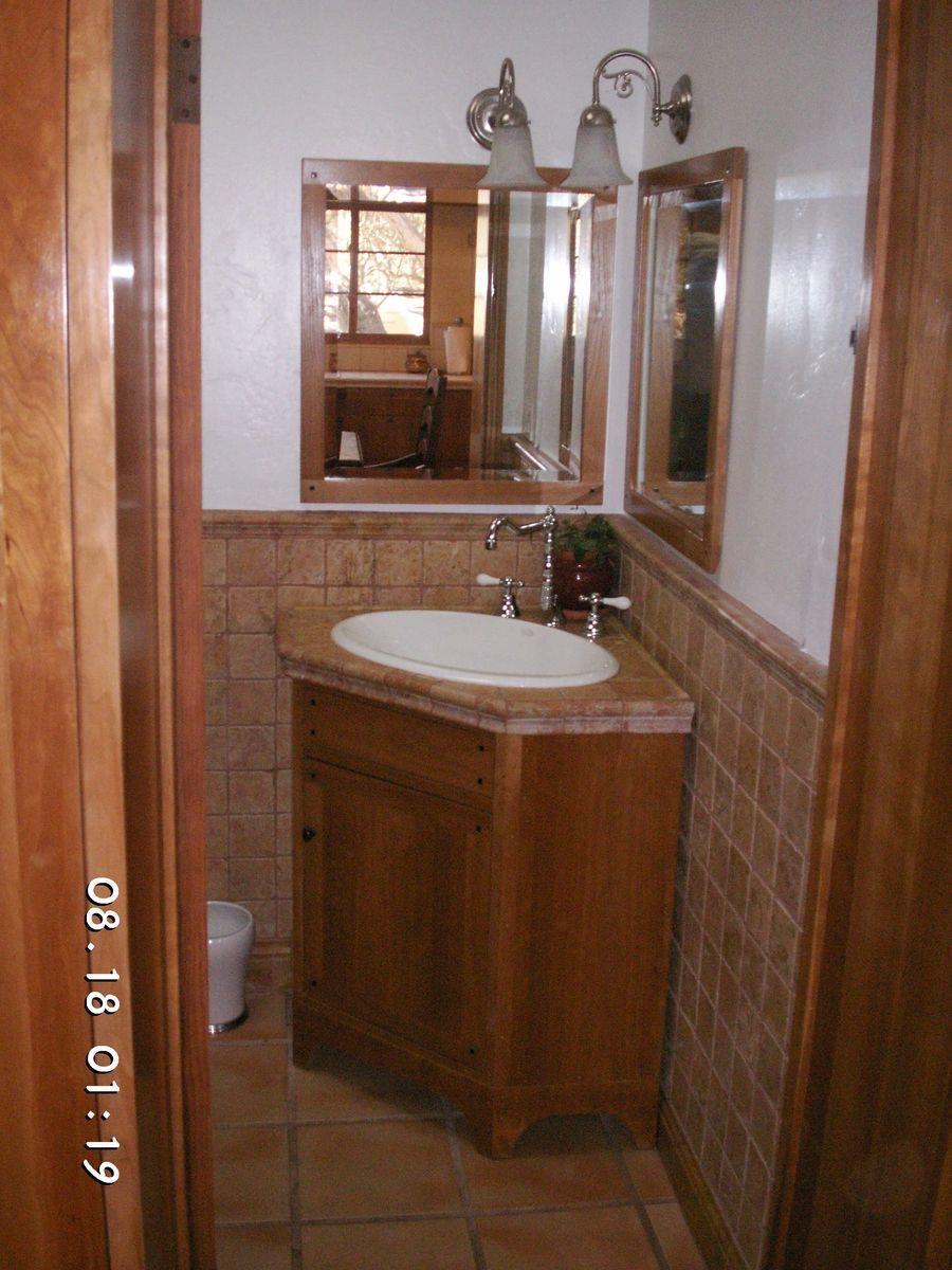 Corner Sink Cabinet For Bathroom  Home Remodeling  Pinterest Adorable Small Bathroom Corner Vanity Inspiration Design