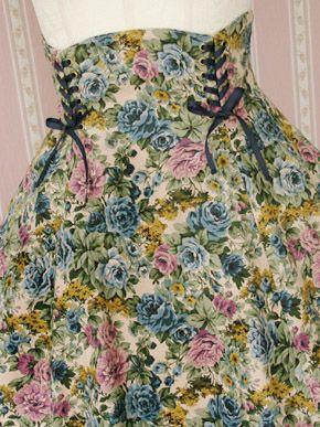 Victorian Maiden Forest Rose High-Waist Skirt