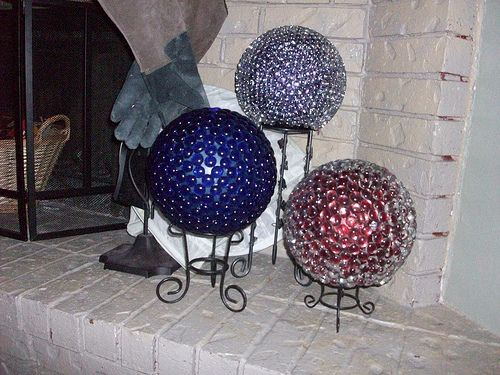 Decorative Yard Balls Diy Decorative Garden Balls  Old Bowling Balls Glass Lighting