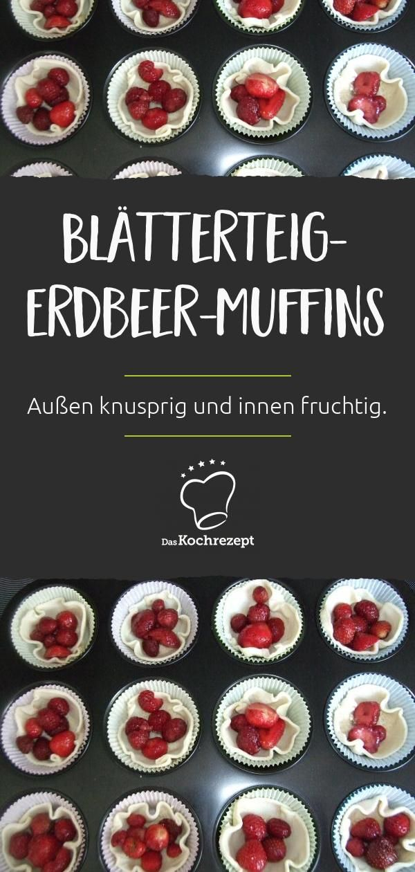Blätterteig-Erdbeer-Muffins
