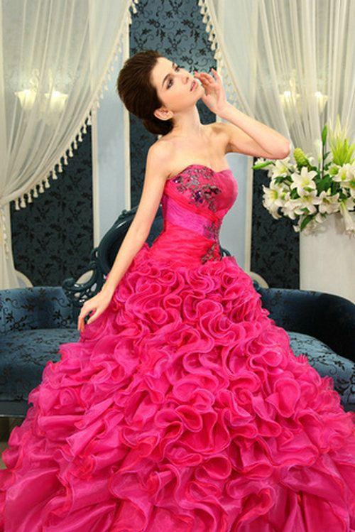 d64aa6291d3c long wedding dresses pink colors | Wedding Dresses | Pink wedding ...