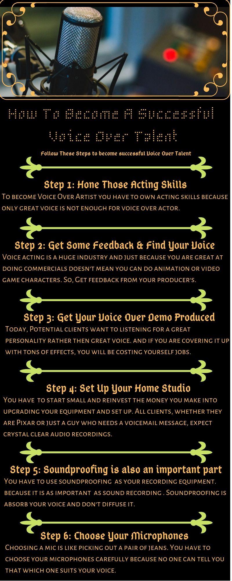 How To Become A Successful Voice Over Talent The Voice How To Become Acting Skills
