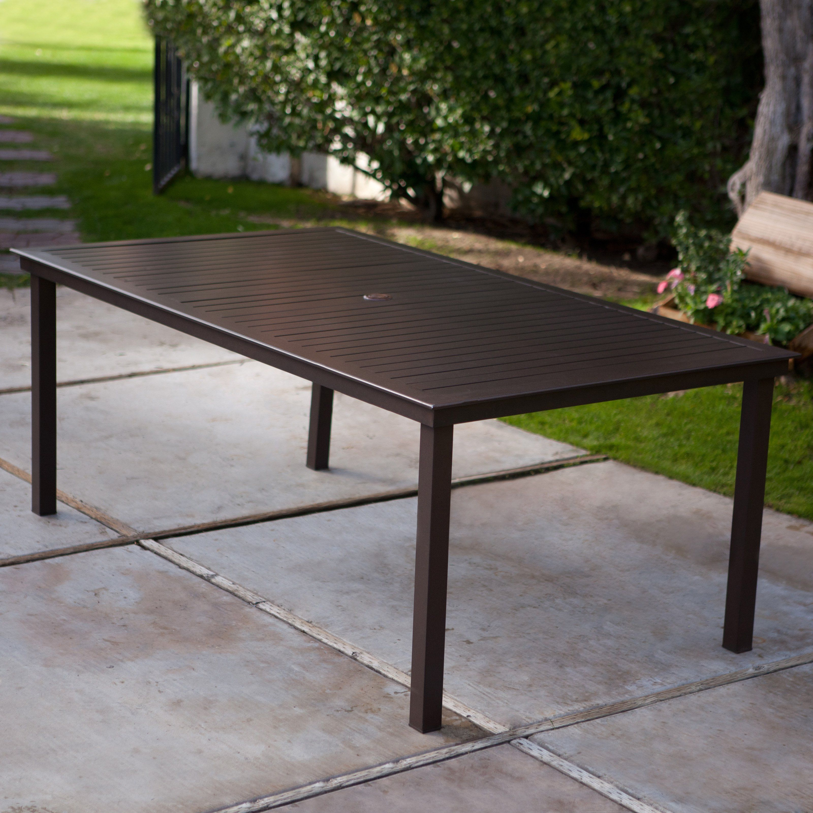 Coral Coast 74 x 42 in Rectangle Aluminum Slat Top Patio Dining
