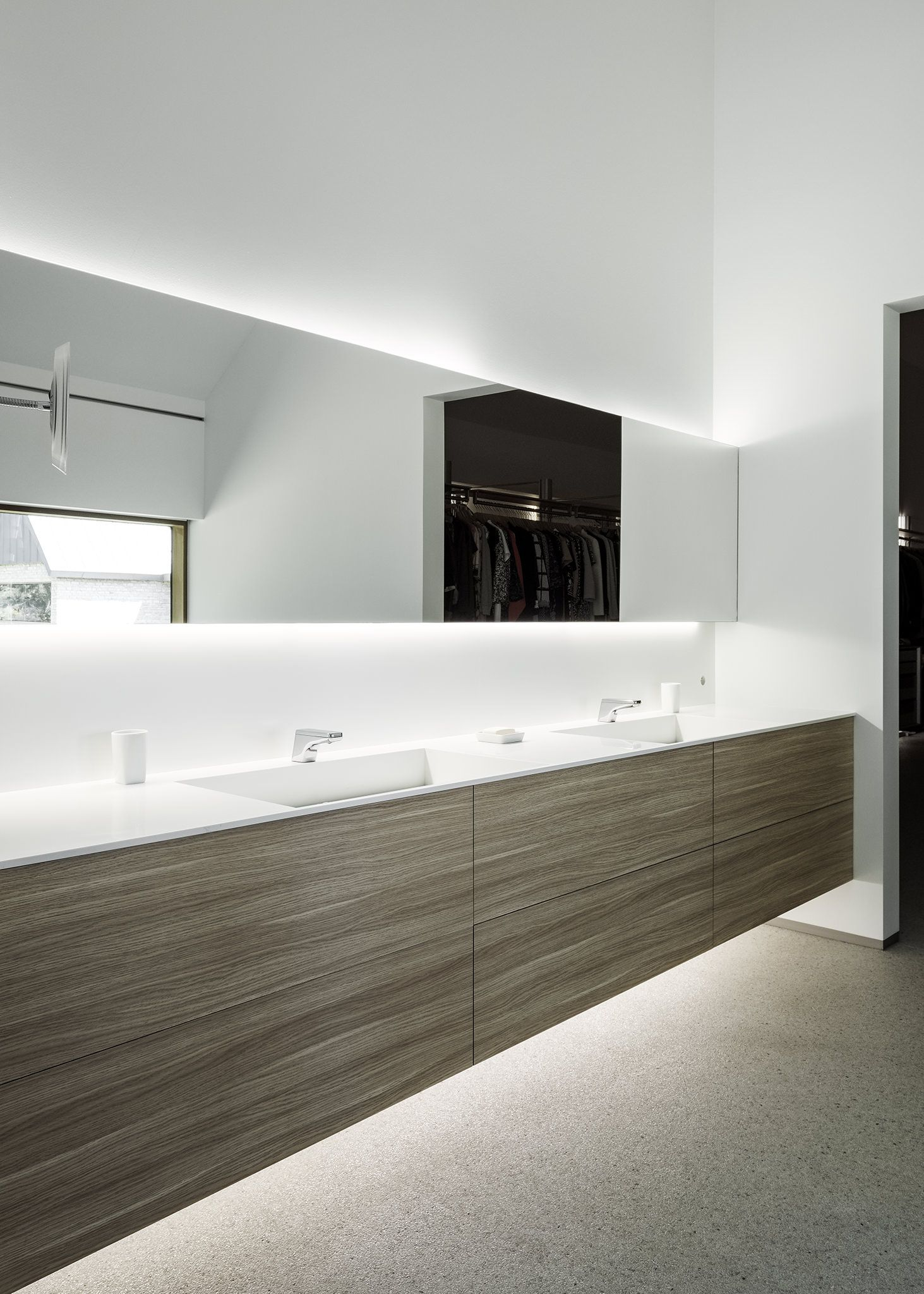 Modern Bathroom With Corian Sink And Countertop We Are