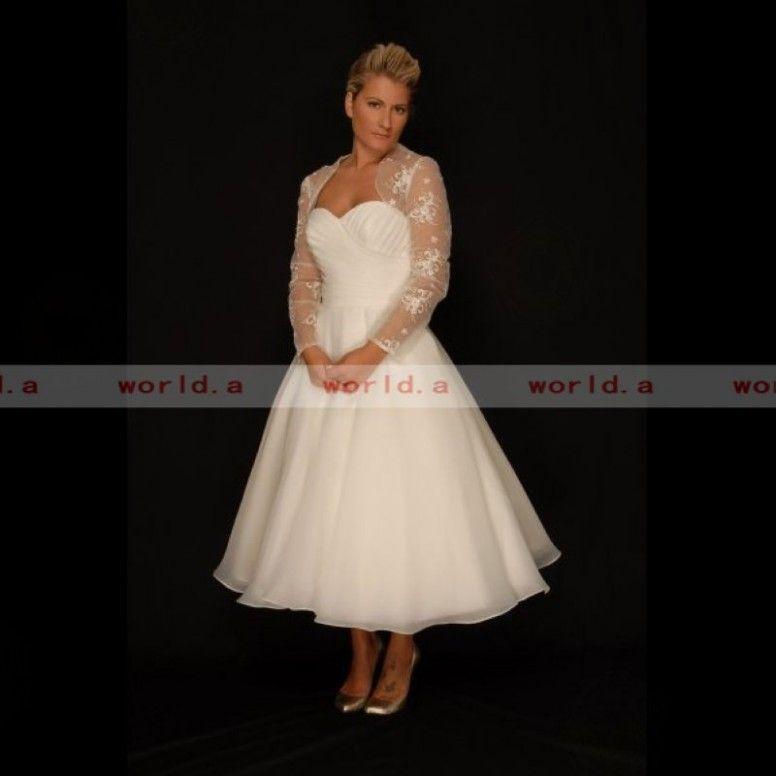Plus Size T Length Wedding Dress