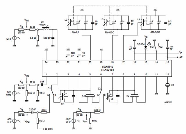 Am Fm Radio Fm Receiver Circuit Diagram Using Tea5710 Tea5710t Circuit Diagram Electronics Circuit Circuit