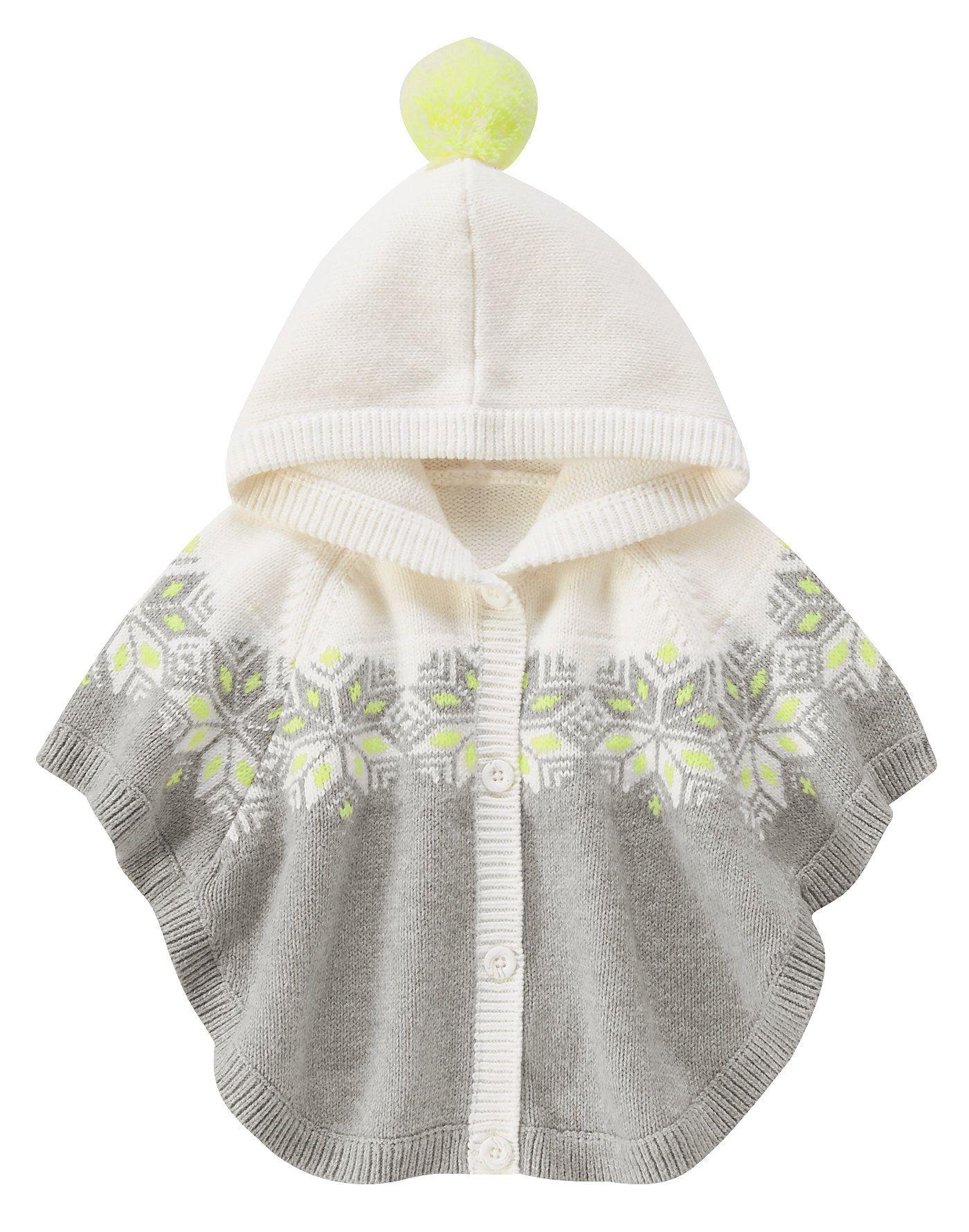 597c9e487be Snowflake Sweater Poncho at Gymboree