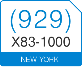 New York Area Code 929 Local Vanity Telephone Number