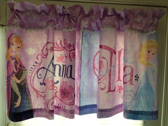 Disney Frozen Princess Window Valance Custom By Cheriessewcrafty