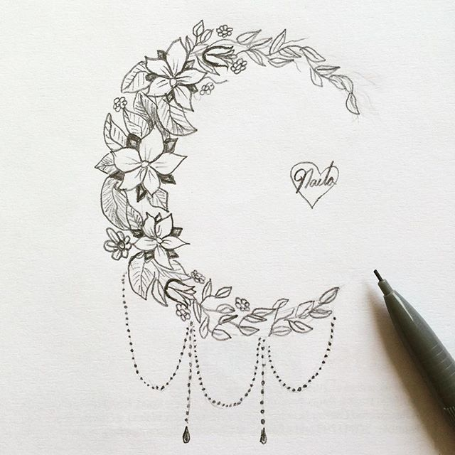 Image Result For Flower Moon Tattoo Meaning Tattoo