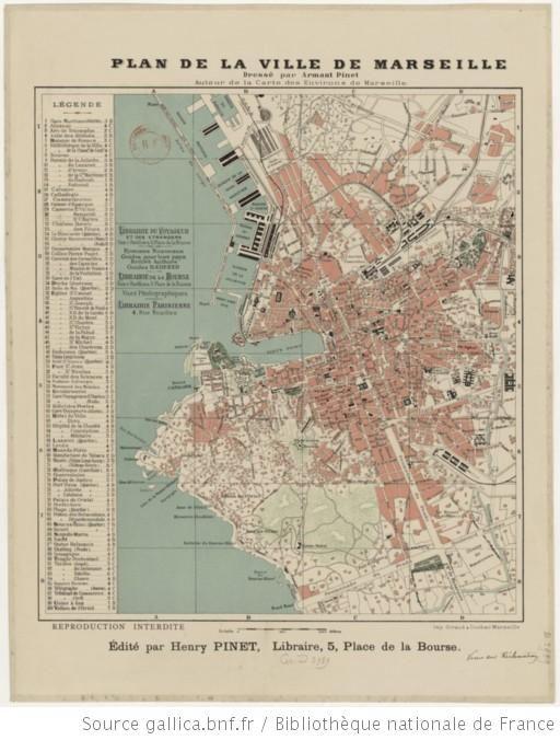 Plan De La Ville De Marseille Dresse Par Armant Pinet 1
