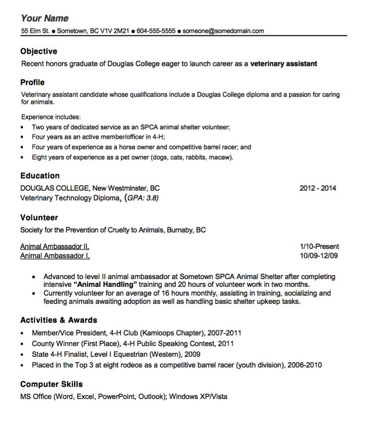 vet tech resume template http exleresumecv org vet