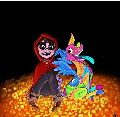 Miguel Y Dante De Coco Pixar Disney Coco Pelicula Y Pixar