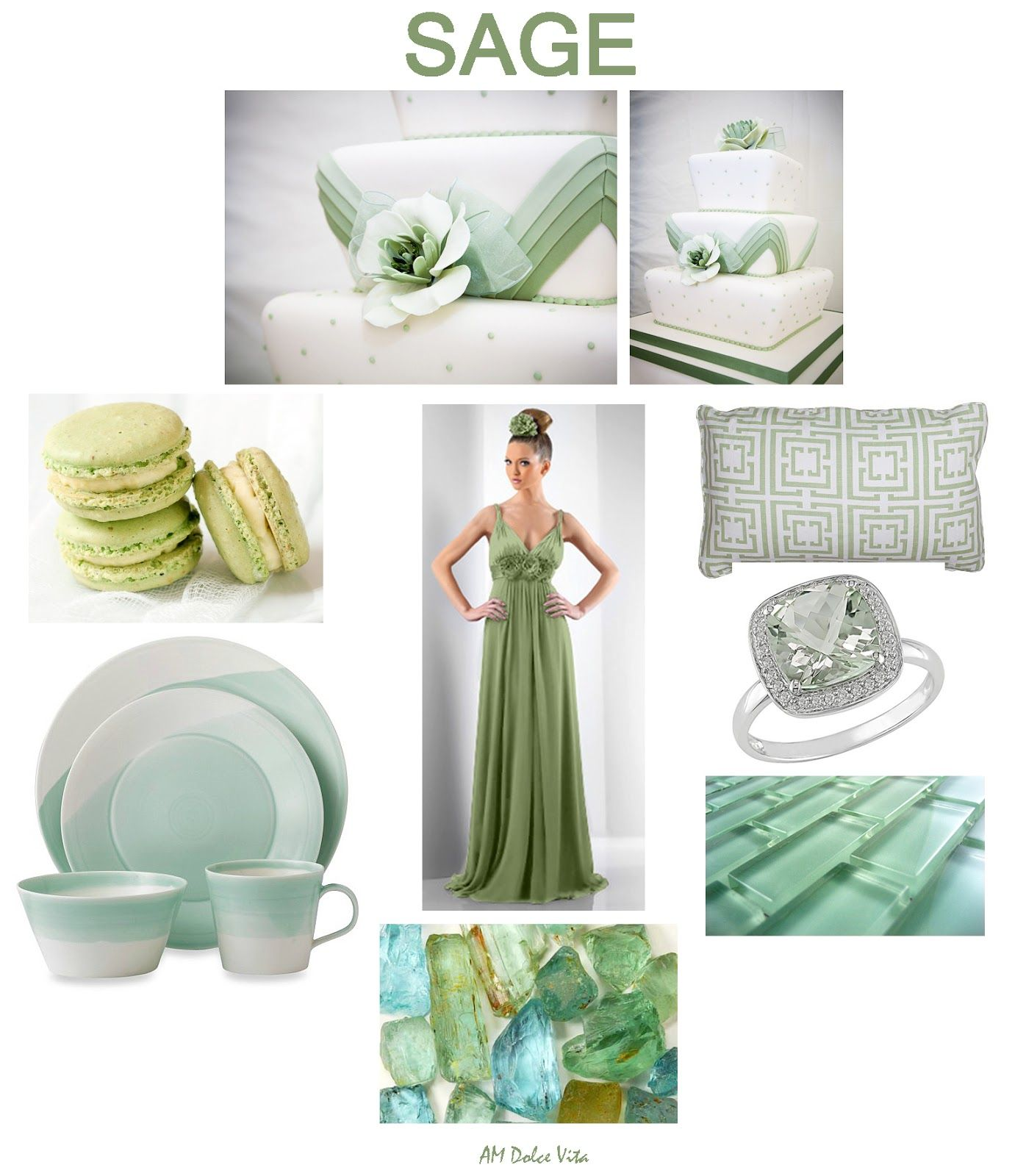 AM Dolce Vita, Sage Green Color Inspiration Board