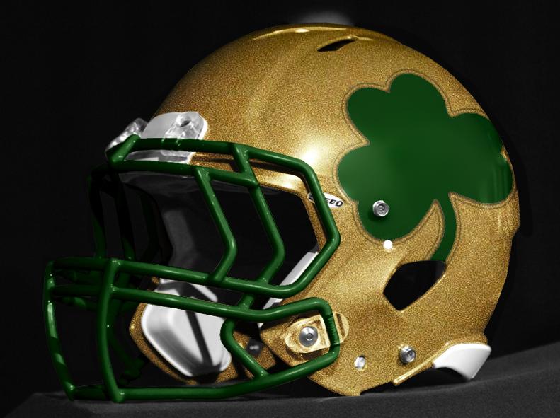 Notre Dame Helmet Helmet Concept Helmet Football Helmets