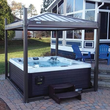 Covana Is Automated All In One Gazebo Enclosure That Includes Your Hot Tub  Cover ☎ ☀ Replacement Spa Covers, Denver, Boulder, Aurora, Boulder