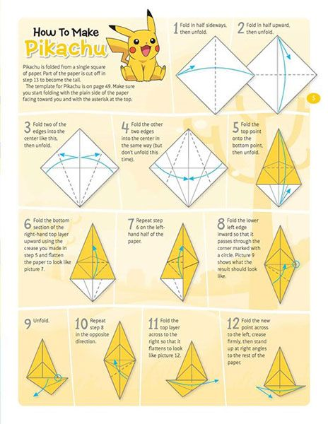 Pokmon Origami Book Books For Geeks Of All Ages Pinterest